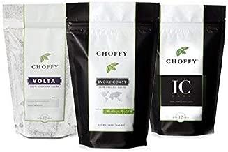Choffy, Variety Set, Brewed Chocolate, Cocoa, Medium, Dark Roasts - Three 12oz. Bags