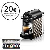Nespresso XN304T Pixie Titán EU, 1260 W, 2 Cups, Acero Inoxidable, Gris Titanio