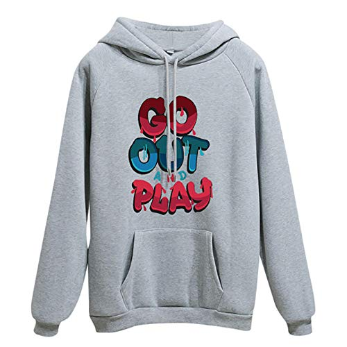 Jersey Suéter Sweater Sudadera con Capucha De Manga Larga Informal para Mujer, Jersey, Jersey, Tops Gruesos, XXL, Gris