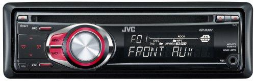 JVC KD R 301 MP3-CD-Tuner (Front Aux, rote Tastenbeleuchtung) schwarz