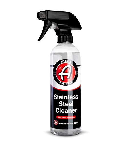 Adam's Stainless Steel Cleaner & Protectant 16oz - Non-Toxic, High Powered Formula Cleans, Shines, & Protects Your Stainless Steel Appliances - Streak-Free, Long-Lasting Finish & Ceramic Coating Protection
