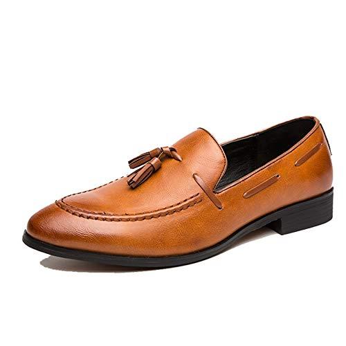 Mocasines para Hombre Zapatos Formales de Trabajo Bajos para Novio Zapatos de...