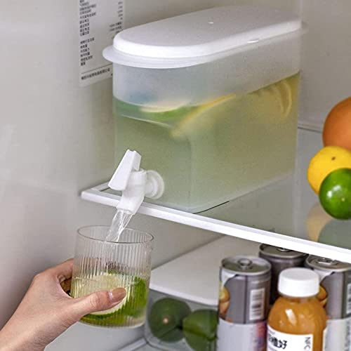 Vitaisa Dispensador de Bebidas 3.5L Dispensador de Agua, refrigerador Tetera de Fruta de hervidor de frío con Toque, para Hacer Reutilizables té y jugos
