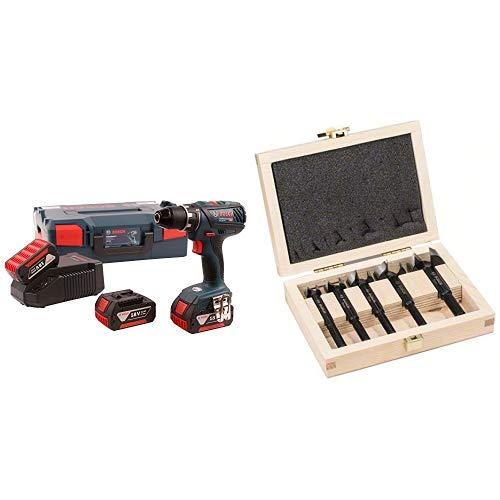 Bosch 06019H4103 - Atornillador a batería + Bosch 2608577022 - Set profesional
