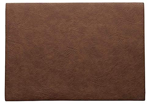 ASA 78306076 Set de table en PVC caramel 46 x 33 cm Végégégégan leather, en PU 78306076 ! Set de 4 pailles en acier inoxydable EKM Living