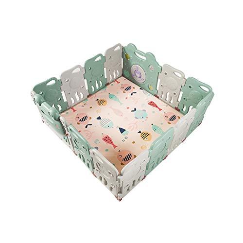 LIUFS-Clôture Terrain de Jeu pour la sécurité à la Maison (Taille : 12+2 Fence+Crawling Mat)