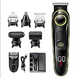 Pantalla Digital Cortapelos USB Recargable Recortador de Barba Hombre Electrónico Cortar Pelo y Afeitadora para Adultos y niños