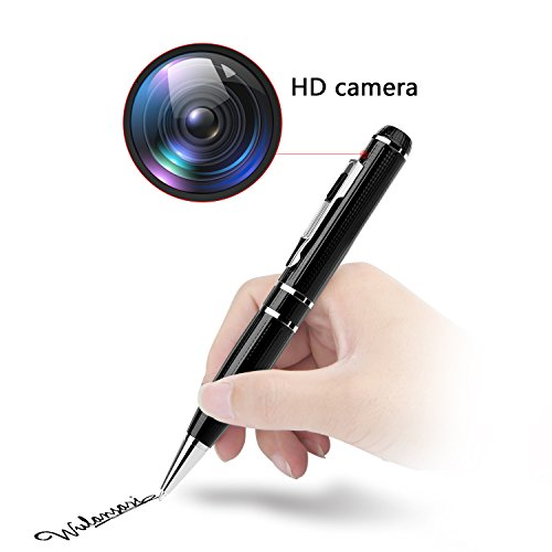 Spy Pen Hidden Camera - Full HD 1296P 32GB Pen Spy Cam Espias Inspection Gadget with Motion Detector for Criminal Investigation