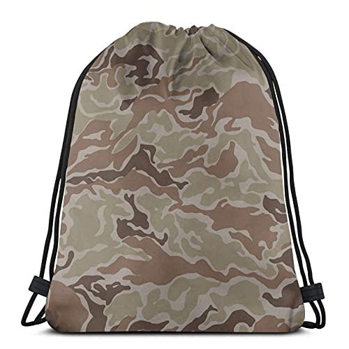 Lmtt Mochila con cordón, deportes, gimnasio, mochila, bolsa de viaje, camuflaje militar