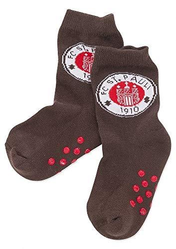 FC St. Pauli - Logo Baby-Socken braun, Größe: 21-23