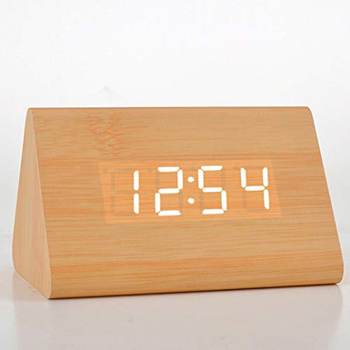 Despertador de madera, LED Despertador de noche sin radiaci�