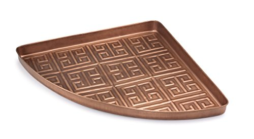 Good Directions Athens Multi-Purpose Corner Tray / Boot Tray / Shoe Tray - Copper Finish (22.5 in) - Food, Drinks, Plants, Pet Bowl, Garage, Entryway, Entrance, Foyer