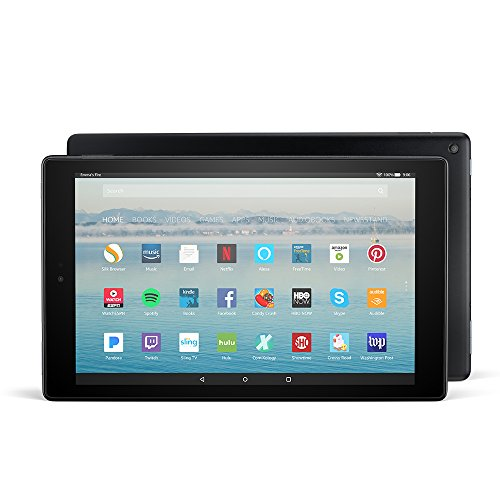 Fire HD 10 Tablet with Alexa Hands-Free, 10.1' 1080p Full HD Display, 32 GB, Black (Previous...
