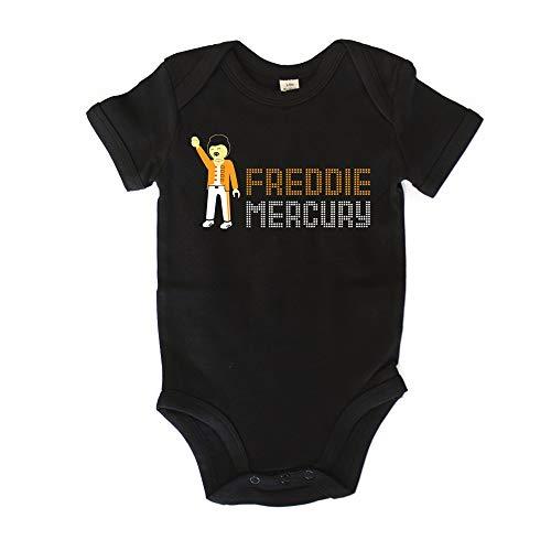 GAMBA TARONJA Freddie Click - Bodie - Body - Freddie Mercury - Queen - Multicolore - 3-6 Mois