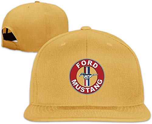 Unisex Customized Ford Mustang Logo Funny Baseball Hat Natural,Sombreros y Gorras
