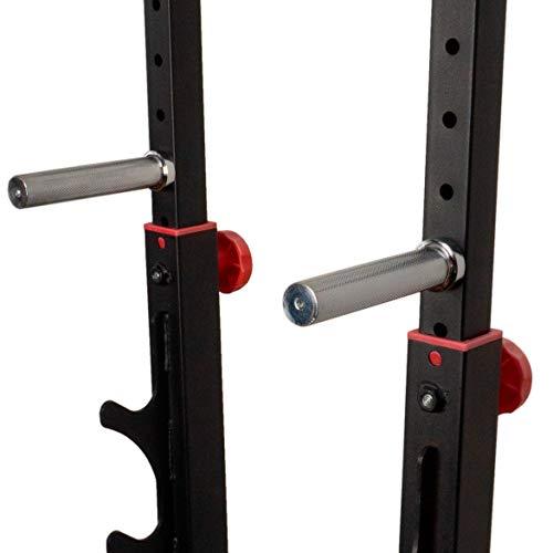 MAUMI - Engineering Customer Products Dip Barren Dip Station Paralleltts Parallel Bar für Kniebeugenständer Squat Power Rack Langhantelständer auch als Hantel Ablage Hantelständer verwendbar