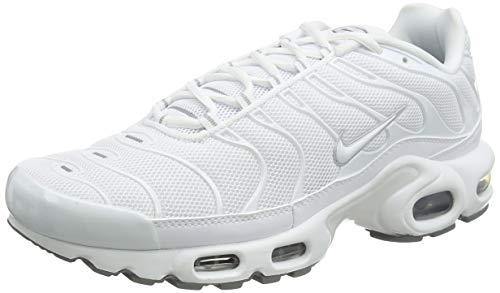 Nike Air Max Plus, Scarpe da Running Uomo, Bianco Nero Nero Grigio Cool Grey, 42 EU