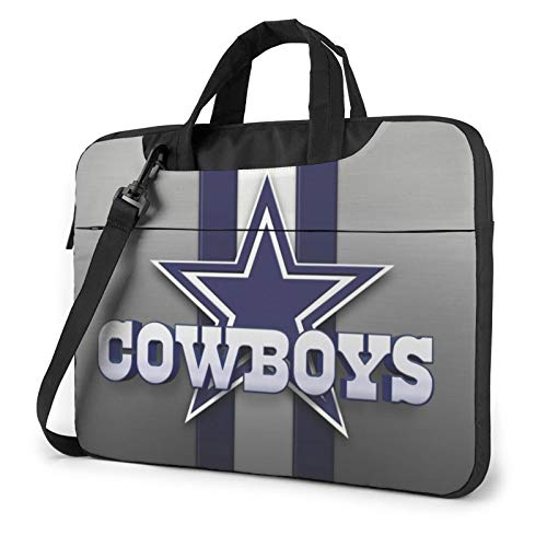 Azhangljqn Laptop Bag Dallas-Cowboys Laptop Shoulder Bag, One Shoulder Shockproof Laptop Bag, Handbag, Business Travel Bag