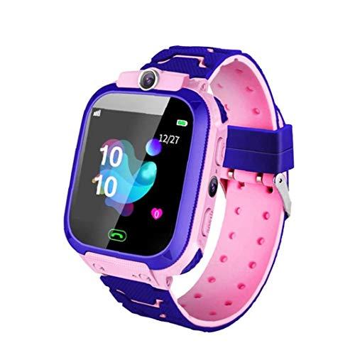 FeelMeet Inteligente Reloj niños Teléfono niños Pulsera Rosa SOS Llamada a Prueba de Agua apropiado de la cámara SIM para Anroid iOS