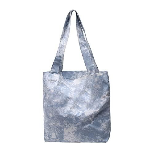 Bolso de mano para mujer, bolsa de la compra, bolso de mano, bolso de mano, bolso grande con corbata, bolso de playa, bolso de lona, vacaciones diarias en la playa o viaje