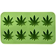 Fairly Odd Novelties Cannabis Marijuana Pot Leaf Shape Stoner Ice Cube Tray Mold Novelty Gag Gift