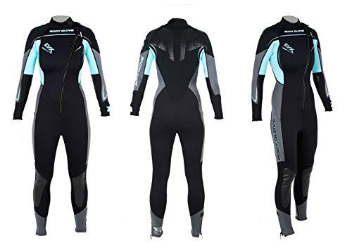 Body Glove EVX Front Zip 3mm türkis Fullsuit Wetsuit Damen Neoprenanzug Tauchanzug Surfen Kiten Anzug (L)