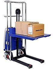 Mini camión eléctrico de plataforma hasta el 400 kg capacidad de levantamiento   Altura máxima de levantamiento: 1500 mm con plataforma desmontable