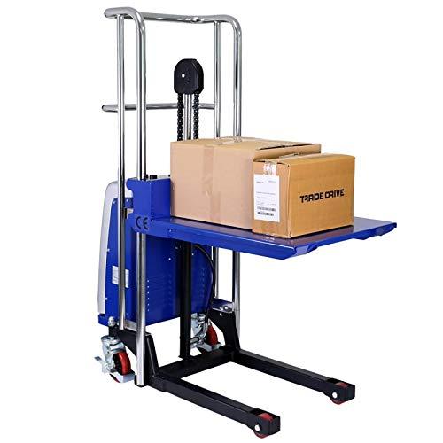 Mini camión eléctrico de plataforma hasta el 400 kg capacidad de levantamiento | Altura máxima de levantamiento: 1500 mm con plataforma desmontable