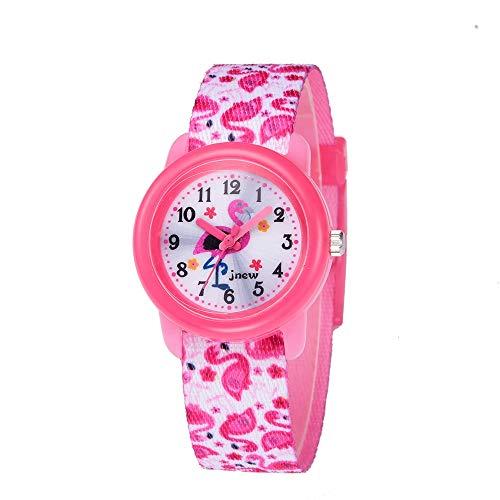 Keigos Kids Smart Watch Waterproof - Flamingo Lovely Cartoon Watch for Girls and Boys, The Best Gift (2 Bracelets Included)