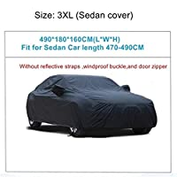 車カバー 車のカバーの屋外の天気防水 傷の雨の降雪防止保護車のカバー (Color Name : 3XL 490x180x160cm)