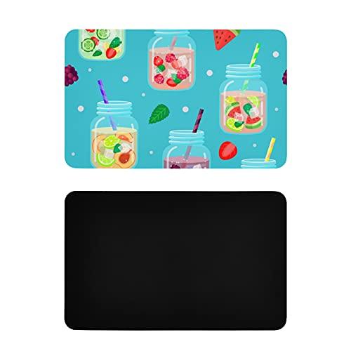 Imanes cuadrados para nevera, decoración colorida de verano, postre de frutas, taza de nevera, imanes personalizados de pvc para lavavajillas, accesorios de cocina divertidos, 4 x 2.5 pulgadas