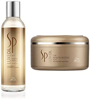 Wella Sp Luxe Oil Keratin Protect Shampoo-200ml & Oil Keratin Restore Mask-150ml (Combo)