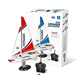 PLAYSTEAM Mini Voyager 280 RC Controlled Wind Powered Sailboat in Red - 14' Tall