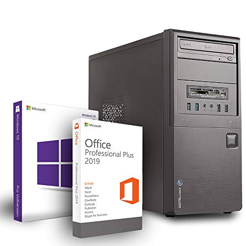 Ankermann Business Office Work PC Intel i5 4x3,2Ghz NVIDIA GeForce GT 16GB RAM 480GB SSD 1TB HDD Windows 10 Pro W-LAN Office Professional