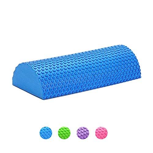 Faszienrolle Wirbelsäule Massagerolle,Halb Runde Faszien Rolle für Physiotherapie & Übung Yoga-Hilfe, EVA Schaumstoffrolle Fitnessrolle für Selbstmassage und Behandlung des Bindegewebes,Blue,30cm