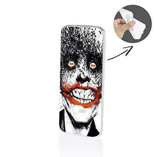FINOO  | Samsung Galaxy S7 Edge Weiche Flexible lizensierte Silikon-Handy-Hülle | Transparente TPU Cover Schale mit Batman Motiv | Tasche Case mit Ultra Slim Rundum-Schutz | Joker Face