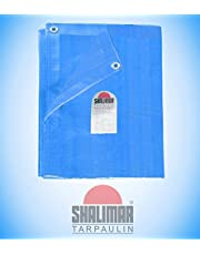 Shalimar Plastic Virgin HDPE Tarpaulin 95 GSM with Reinforced Edges on All 4-Sides for Extra Strength (6 x 9 ft, Blue)