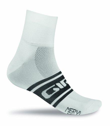 Giro Fahrradsocken Meryl Classic Socken, White/Black Clean, S