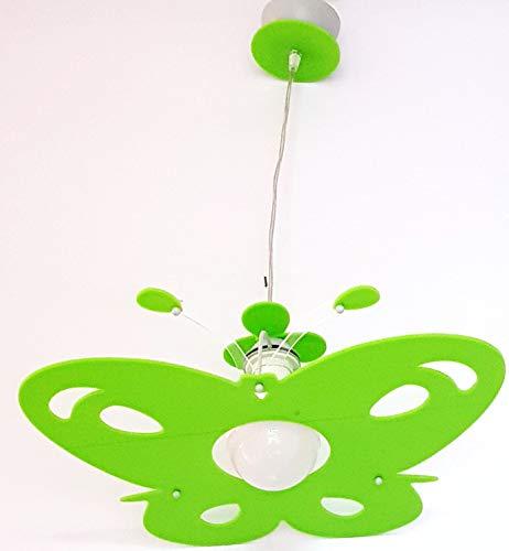 Elobra Lampada da soffitto motivo: elefante colore: verde chiaro lampadario a sospensione per bambini in legno