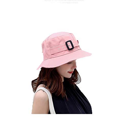 DYFAR Sombrero del Sol del Verano de Las Mujeres, Sombreros de Packable con el cordón de la Barbilla Cubo del Borde Ancho Lavabo de Las Muchachas jóvenes UPF 50+, Pink