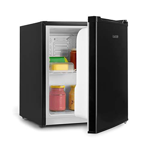 Klarstein Scooby Mini-Kühlschrank, EcoExcellence System, Energieeffizienzklasse A++, 40 L Fassungsvermögen, Temperaturregler, herausnehmbarer Regaleinschub, Flaschenfach bis 2 Liter, 41 dB, schwarz