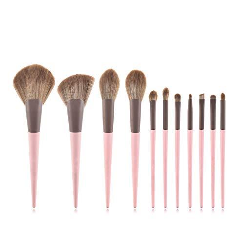 JFFFFWI Ensemble de pinceaux de Maquillage Professionnel de 11 pièces, pinceaux de Maquillage pour Le Fond de Teint, Fard à paupières, Sourcils (Couleur: A)