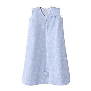crib bedding and baby bedding halo sleepsack wearable blanket cotton woodland etch blue, size medium