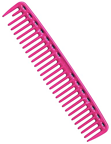 YS Park 452 Wide Round Tooth Cutting Combs In (PINK) Made in Japan + FREE Double Dip Comb/Brush ($4 value)