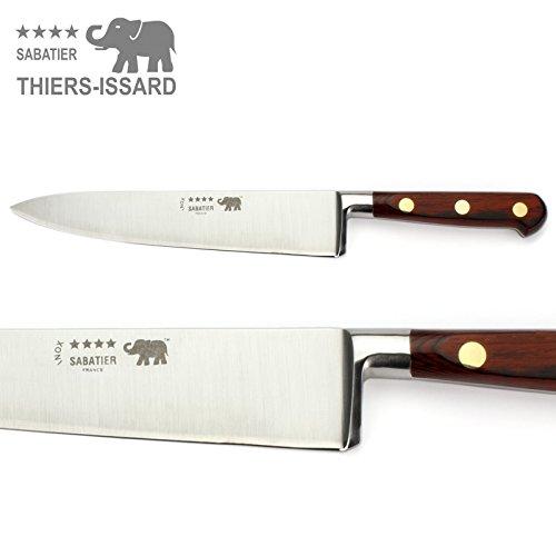 Thiers-Issard Sabatier Kochmesser Küchenmesser Messer - Klinge 20 cm - Griff Staminaholz rot - Geschmiedete Profi Qualität