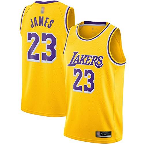 DODE Jersey de baloncesto al aire libre LeBron Los Ángeles NO.23 Oro, Lakers James 2020/21 Swingman Jersey de secado rápido de la competencia Jersey para los hombres - Edición de icono