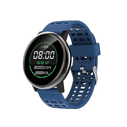 YZY Fitness Armband Tracker, Smart Watch Activity Tracker waterdichte pedometer armband met slaapmonitor, stappenteller en afstandsbediening foto, blauw