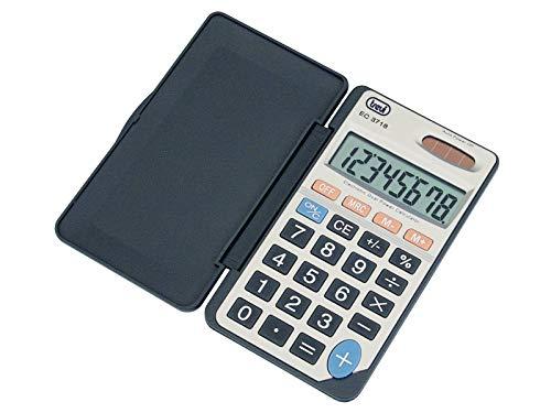 Trevi EC 3718 - Calculadora (bolsillo, Batería/Solar, Basic calculator, Gris)