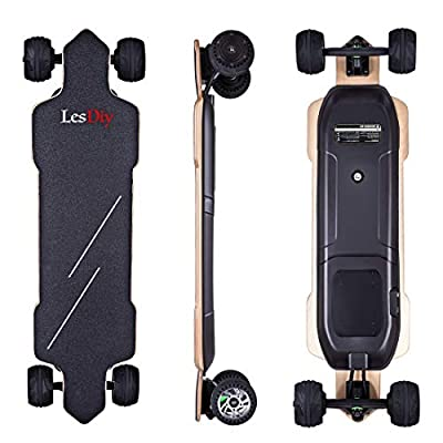 LesDiy Elektro Longboard E-Longboard 4 Leistungsstufen 50km Höchstgeschwindigkeit 30km Arbeitsweg für Teenager, Erwachsene