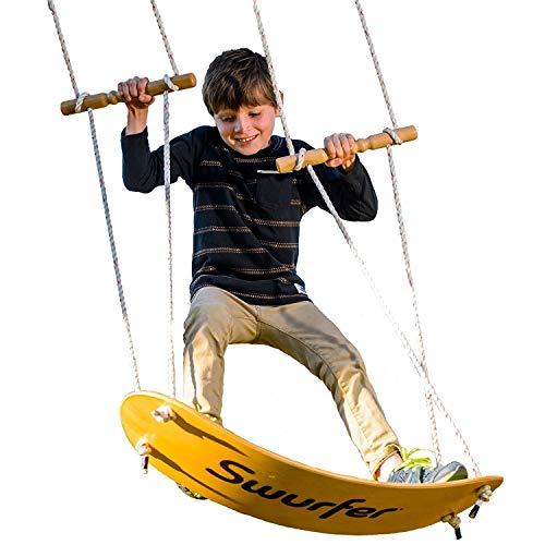 Swurfer - the Original Stand Up Surfing Swing - Curved Maple Wood...